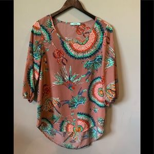 Karlie XL Indian Vibe Printed Blouse